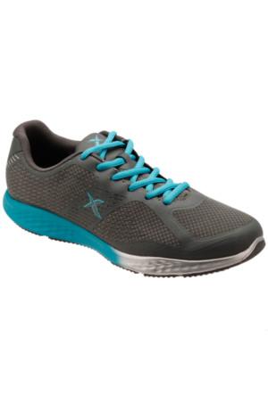 Kinetix 1235388 Gri Turkuaz Gümüş Kadın Fitness Ayakkabısı