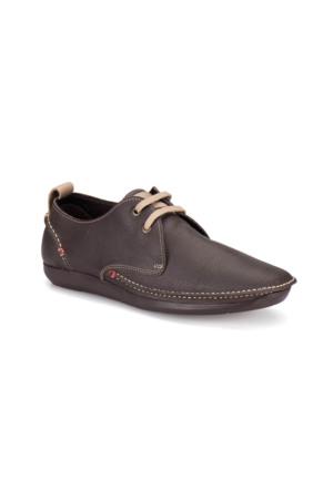 Flogart 35037-1 M 1450 Kahverengi Erkek Deri Modern Ayakkabı