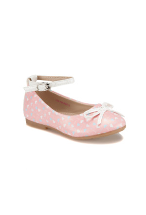 Pink Step Lona Pembe Kız Çocuk Babet