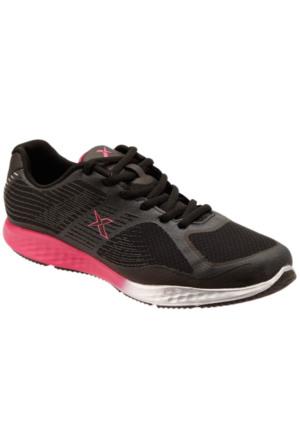 Kinetix 1235387 Siyah Fuşya Gümüş Kadın Fitness Ayakkabısı