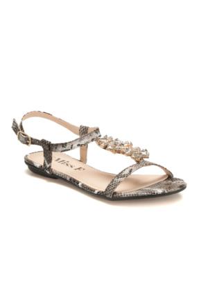 Miss F F18084 Siyah Kadın Sandalet