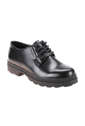 Dockers By Gerli A3315639 Siyah Kadın Açma Deri Ayakkabı