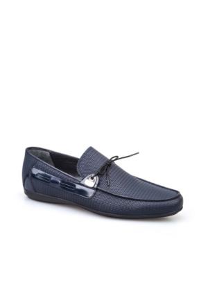 Cabani Bağcıklı Erkek Ayakkabı Lacivert Deri