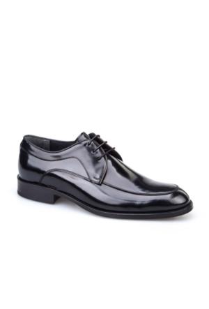 Cabani Bağcıklı Erkek Ayakkabı Siyah Açma Deri
