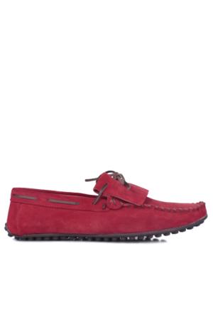 Kalahari 350002 039 558 Erkek Kırmızı Süet Yazlık Ayakkabı