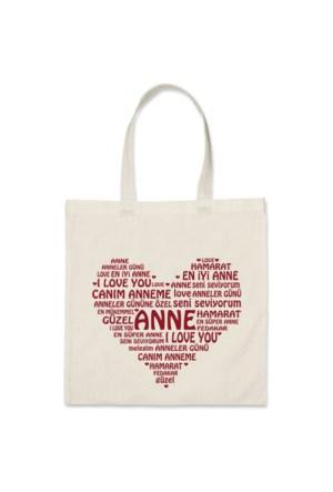BuldumBuldum Anneler Gününe Özel Mesajlı Bez Çanta