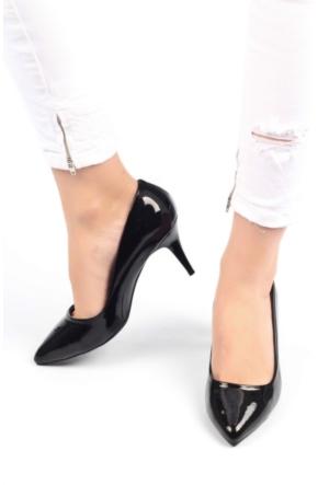Pembe Potin William Siyah Rugan Ayakkabı