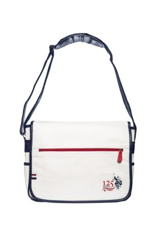 U.S.Polo Assn. Poliüretan Çapraz Çanta Beyaz (40*30*13)