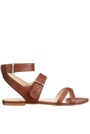 Nine West Nwdarcelle Kahve Gerçek Deri Ayakkabı Düz Sandalet