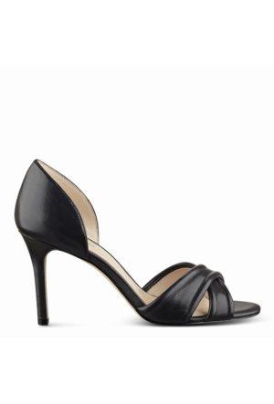 Nine West Nwfortunata Siyah Gerçek Deri Ayakkabı Topuklu Terlik