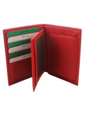 Derkon Erkek Deri Cüzdan 115-4 Kırmızı