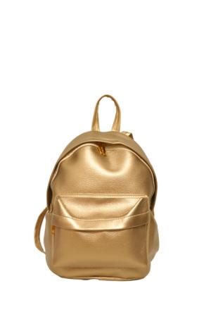 Güzel Çanta Altın Bayan Sırt Çantası-743