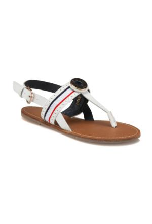 U.S. Polo Assn. 297418 Beyaz Kadın Sandalet