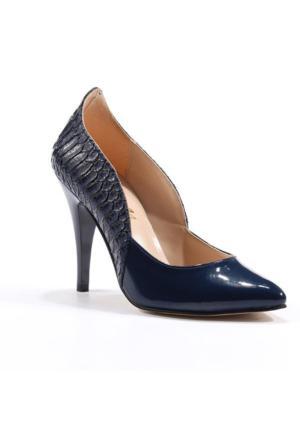 Asm Abiye Stiletto Rugan Desenli Kadın Ayakkabı
