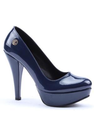 Cudo Platform Topuk Rugan Kadın Ayakkabı