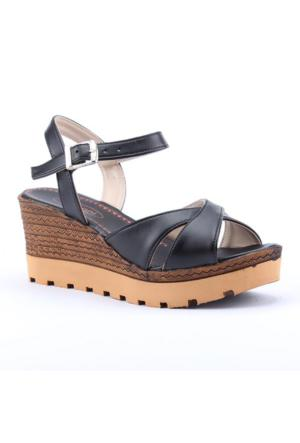 Armoni 102 Günlük Ortopedik 7Cm Dolgu Topuk Kadın Sandalet