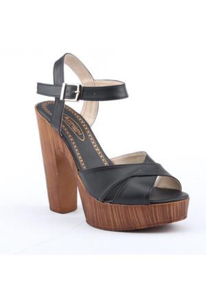Armoni 106 Günlük 12,5Cm Abiye Platform Topuklu Kadın Sandalet