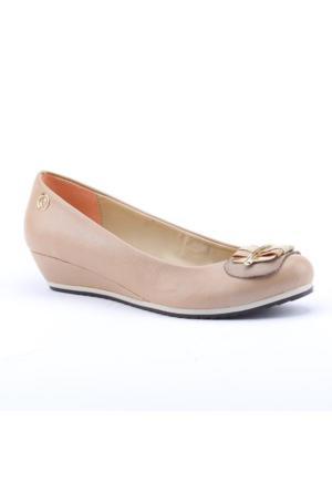 Asm 2800 Günlük 3Cm Dolgu Topuk Ortapedik Kadın Babet Ayakkabı