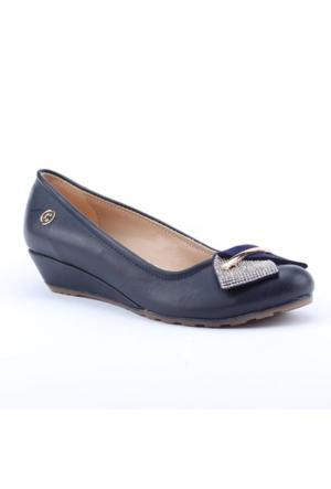 Cudo 2500 Günlük 3Cm Dolgu Topuk Ortapedik Kadın Babet Ayakkabı