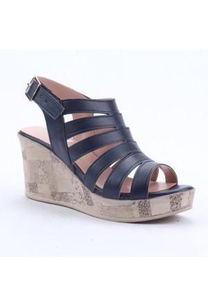 Cudo 32434 Günlük Dolgu Topuk Boy 8Cm Kemerli Kadın Sandalet