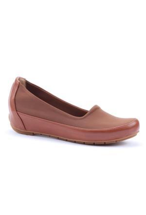 Cudo Günlük Gizli Topuk Likralı Kumaş Cilt Bayan Babet Ayakkabı