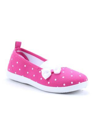 Gezer 2120 Günlük Kız Çocuk Keten Lastikli Babet Ayakkabı