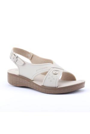 Gezer 5837 Ortopedik Günlük Tokalı Hac Ümre Kadın Sandalet