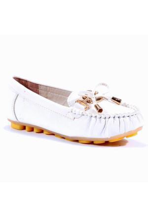 Osaka Günlük Fiyonklu Kız Çocuk Babet Ayakkabı