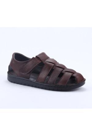 Pepita 4212 %100 Deri Ortopedik Günlük Comfort Erkek Sandalet