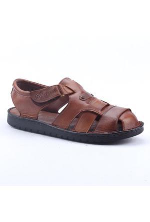 Pepita 4214 %100 Deri Ortopedik Günlük Comfort Erkek Sandalet