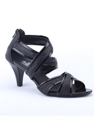 Polaris Carmens 2000 Abiye Fındık Topuk 7,5Cm Simli Kadın Ayakkabı
