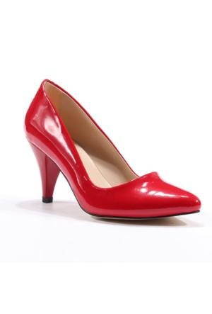 Asm Stiletto Rugan Topuklu Ayakkabı