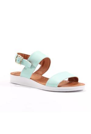 Cesur Günlük Kayışlı Düz Kadın Ayakkabı Sandalet