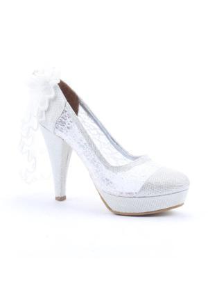 Yükseksoy 4000 Abiye Gelinlik Boy 12Cm Kadın Topuklu Ayakkabı