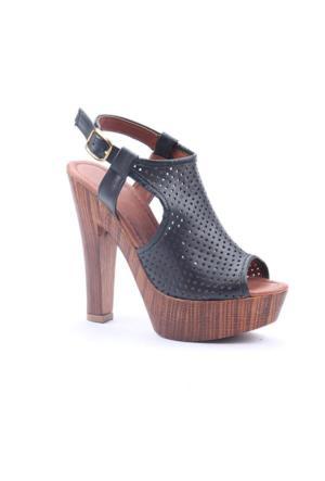 M.C 3000 Günlük Platform Topuklu Boy 14 Cm Sandalet Ayakkabı