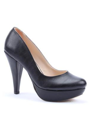 Cudo Cilt Platform Topuklu Kadın Ayakkabı