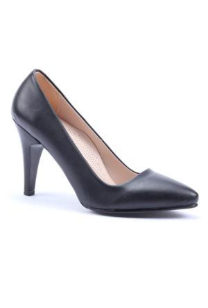 Altın Ayak Stiletto Cilt Topuklu Ayakkabı