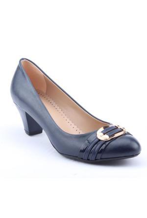 Alens 3401 Günlük Klasik Topuk 6Cm Büyük Numara Kadın Ayakkabı