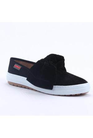 Ccway 101 Büyük Papyon Ebru Şallı Vans Lastikli Kadın Ayakkabı