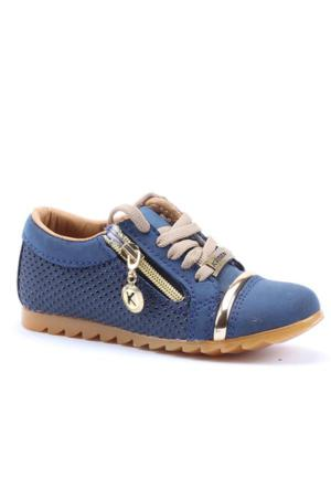 Kimax Cilt Bağcıklı Fermuarlı Ayakkabı