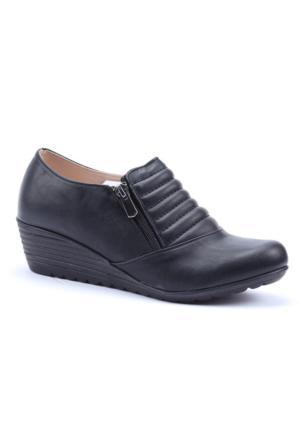 Dizzy Cilt Dolgu Topuk Fermuarlı Ayakkabı