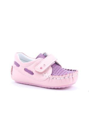 Eys 2500 %100 Deri Günlük Cırtlı Ortopedik İlk Adım Kız Çocuk Ayakkabı
