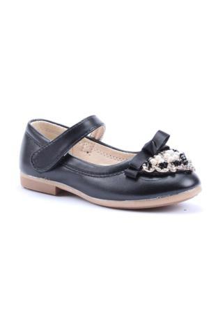 Happy Shoes Fiyonklu Önü Boncuk Cilt Babet