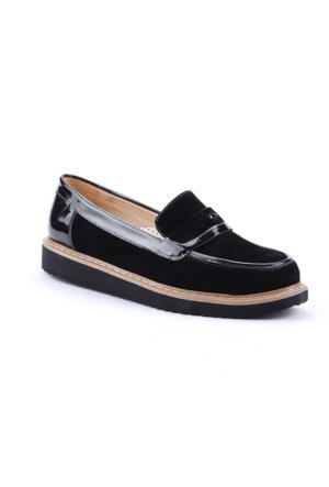 Jevel 3501 Ortopedik Günlük Kadın Rok Oxford Babet Ayakkabı