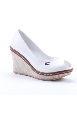 Leona Lewis 30572 Boy 9Cm Günlük Cilt Dolgu Topuk Keten Ayakkabı