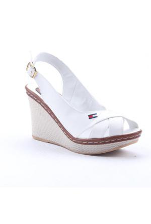 Leona Lewis 31528 Boy 9Cm Cilt Günlük Dolgu Topuk Bayan Ayakkabı