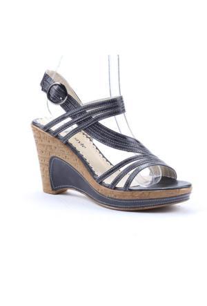 Max Style 2067 Günlük 9Cm Topuklu Kadın Sandalet