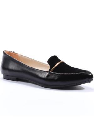 Oc Shoes Günlük Gold Bayan Babet Ayakkabı