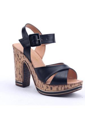 Perim 701 Günlük Platform 12 Cm Kadın Topuklu Sandalet