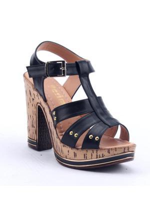 Perim 706 Günlük Platform 12 Cm Kadın Topuklu Sandalet